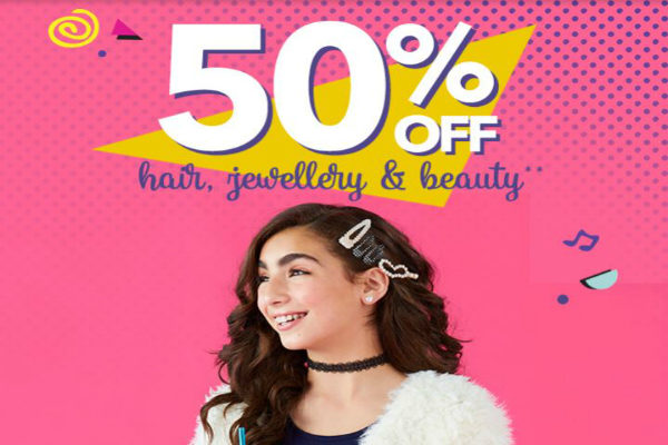 Claires 50 off hair and beauty