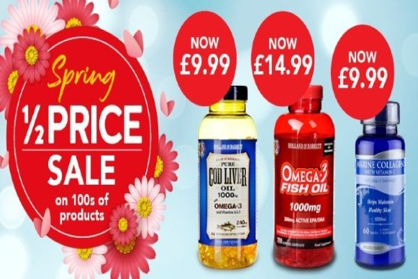 Holland and Barrett half price