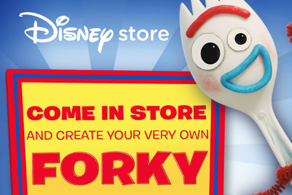 Disney Store Forky Event